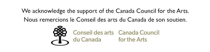 Canada Council thanks and logo